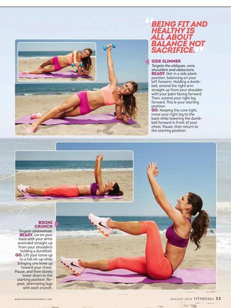 Karena Dawn & Katerina Hodgson in Fitness Rx for Women Magazine, August 2014