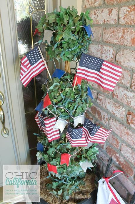 4th of July Topiary