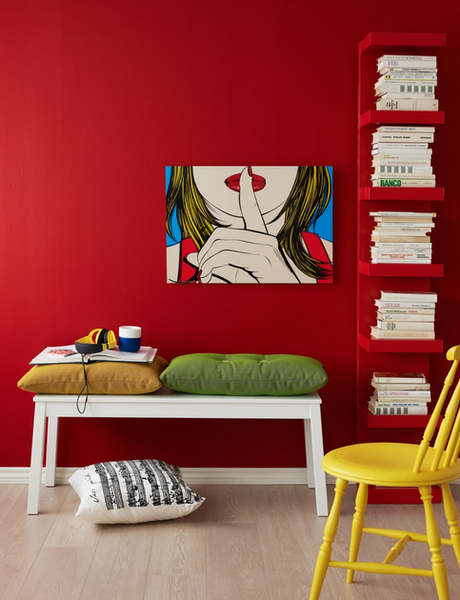 contemporary red room