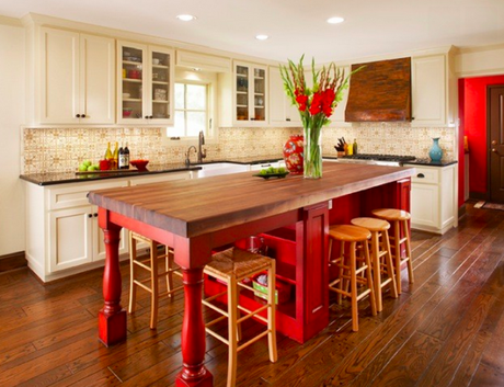 traditional kitchen island