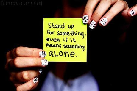 Standing up for yourself...