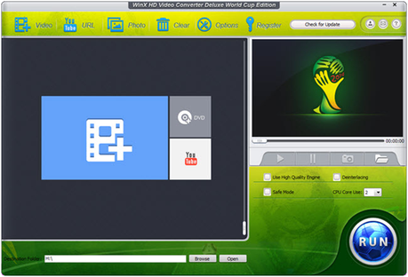 WinX HD Video Converter world cup edition to download world cup videos