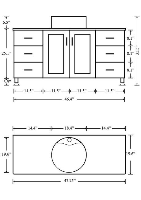 What is the standard height of a bathroom vanity paperblog for Bathroom cabinets measurements