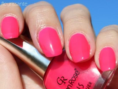 Summer Neon Pink Nails with GOLDEN ROSE Paris #92 and #248 Nail ...