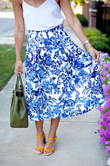 Blue And White Skirt - Skirts