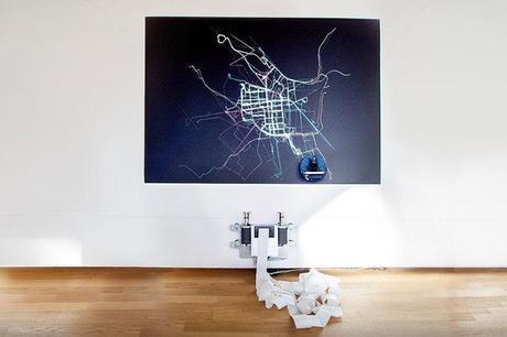 Art exhibit tracks bike rides to fight for safer streets