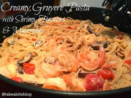 Creamy Gruyere Pasta with Shrimp, Tomatoes, and Mushrooms #CKMondaviHeroes