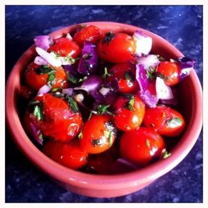 Spicy plum tomatoes italian recipe food and drink Glasgow blog Tuscany now