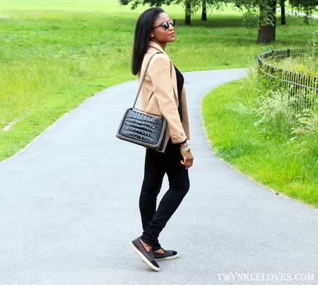 Today I'm Wearing: Beige Blazer + Black