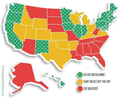 same-sex marriage map of the united states