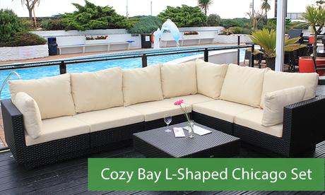 the chicago l shaped rattan sofa set cozy bay chicago sofa set