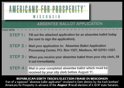 RepublIcan Voter Fraud in Wisconsin - 13 felony counts