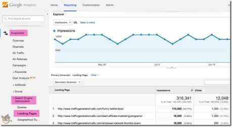 top search engine pages in google analytics