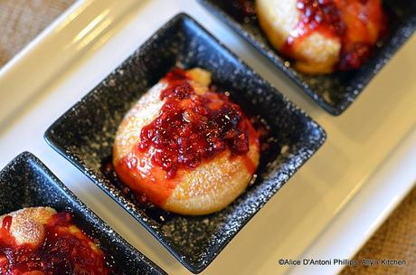Ricotta Dumpling with Raspberry Sauce