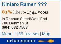 Kintaro Ramen 金太郞 on Urbanspoon