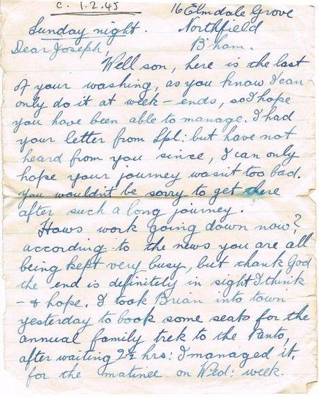 letter olive 1 feb 1945 page 1