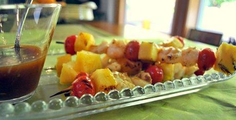 Barbecue Shrimp and Pineapple Skewers