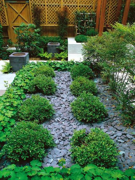 Ideas on landscaping with gravel rocks as a ground cover for Runde gartensteine
