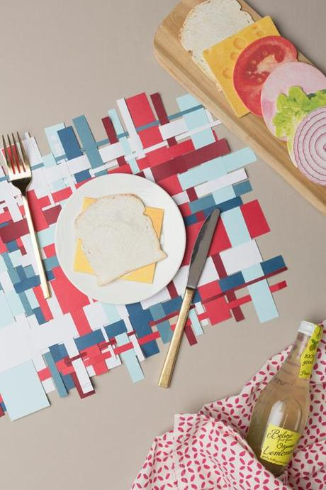 4th of July woven placemat
