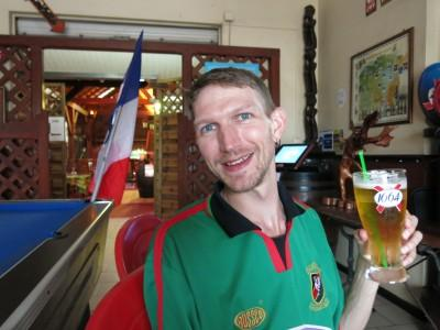 Bar 40 - Tipic Creole in St. Laurent du Maroni in French Guyana watching the France match.
