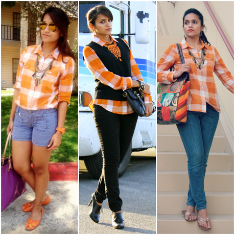 Three Ways To Style Burnt Orange Shirt, Tanvii.com