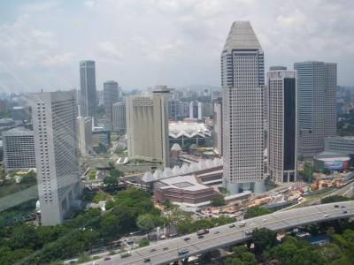 View of Singapore from the top of the Flyer.