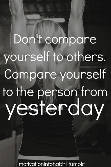 Don't compare yourself to others- my timed mile
