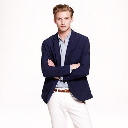 jcrew ludlow sportcoat in navt lightweight cotton mens fashion