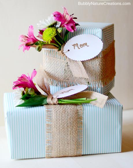 DIY spring gift wrap