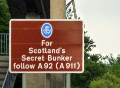 Road sign to secret bunker