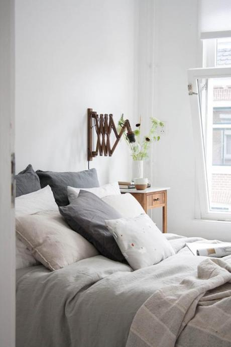 swing arm wall lamps for the bedroom bedroom styling and photo by holly marder of