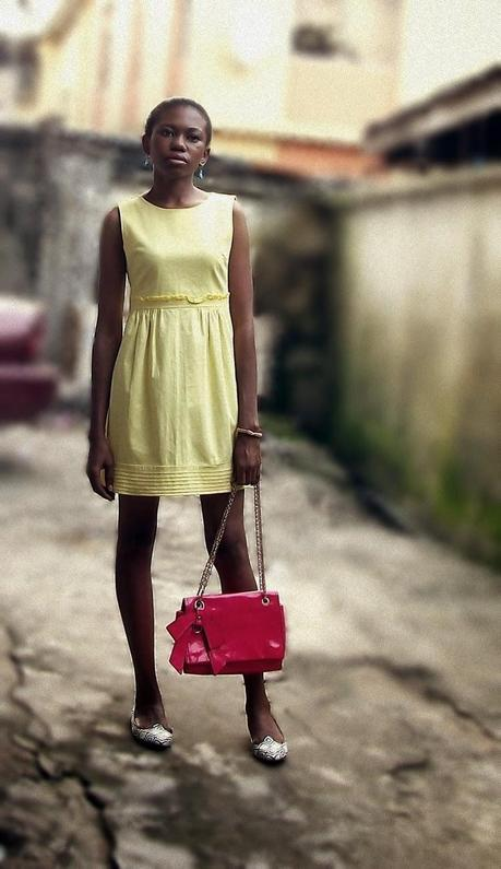 A Yellow Dress and A Pink Bag.