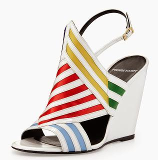 Shoe of the Day | Pierre Hardy Striped Wedge Sandal