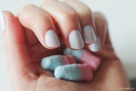 Bubblegum Nails Water Marble Art Paperblog