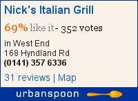 Nick's Italian Grill on Urbanspoon