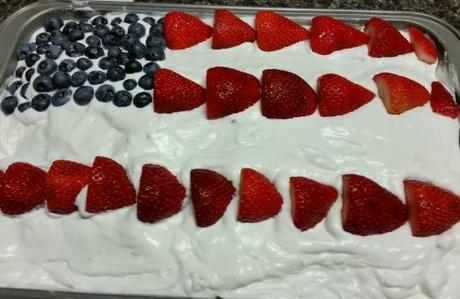 Easy 4th of July Cake