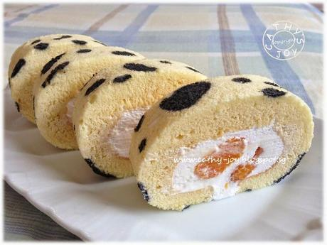 Mandarin Orange Swiss Roll