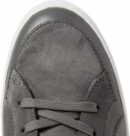 So Fresh, So Clean:  Dolce & Gabbana Suede and Leather Paneled Sneakers