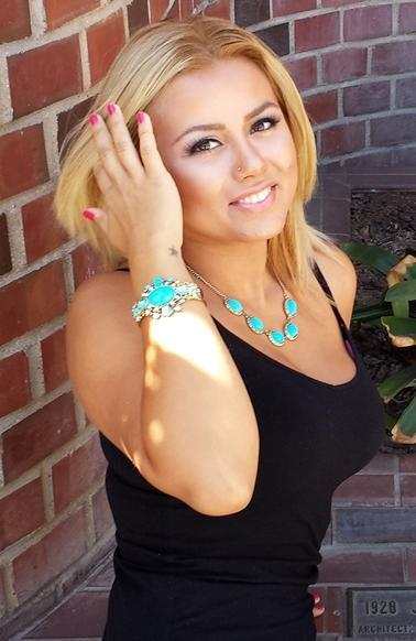 melissa wearing turquoise1Fashion Fix of the Day: Turquoise Color Pop