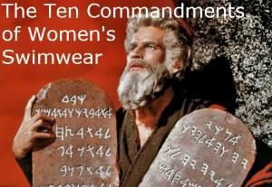 The ten commandments of women's swimwear