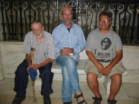 Roland Micklem, Mike Roselle, and Vincent Scotti Eirene are fasting in Charlestown, WV as a witness against mountaintop removal coal mining.