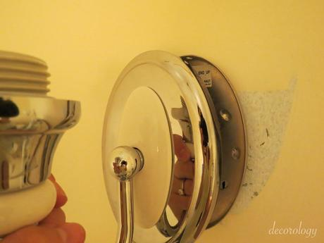 DIY: How to change out a wall mounted light fixture