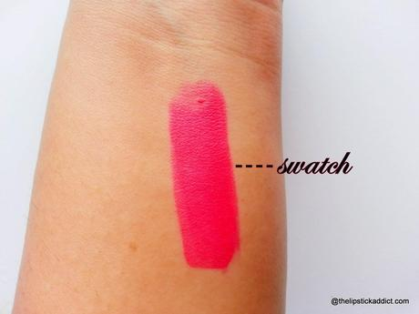 Swatches And Review Colorbar Matte Touch Lipstick In