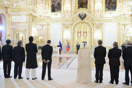 June 2014 reception of new Ambassadors in the Grand Kremlin Palace.