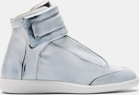 All They're Cracked Up To Be:  Maison Martin Margiela Grey Overpaint Future High-Top Sneakers