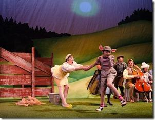 Laura Harrion and Liam Dahlborn in Charlotte's Web, Emerald City