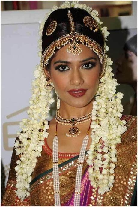 A South Indian bride all dolled out in her bridal garb.
