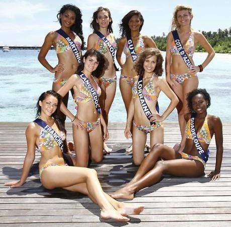 Competitors for the title of Miss Maldives.