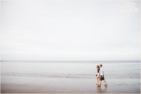 Beach engagement shoto scarborough Yorkshire