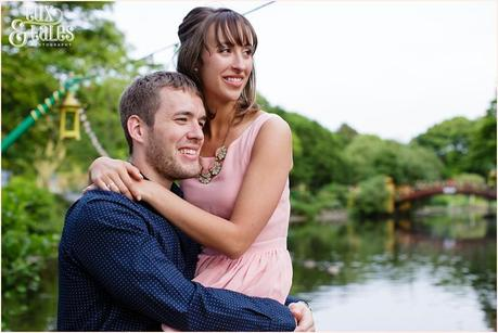 Engagement shoot at lake in Oeasholme park